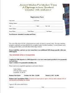 Iona registration form for October 2017